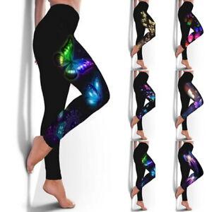 Damen Yoga Gym Fitness Hose Sport Hosen PUSH UP Jogginghose Sporthose Leggins|