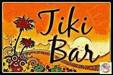 *ALOHA TIKI BAR* MADE IN HAWAII METAL SIGN 8X12 LUAU HOT TUB POOL WELCOME BEACH