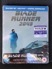 Blade Runner 2049 3D/2D Blu-Ray Digital HD [UK] Steelbook New Sealed Region Free