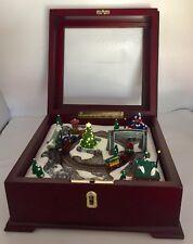 "Mr. Christmas 7"" Wooden Box Musical Lights Up (3.5lb)"