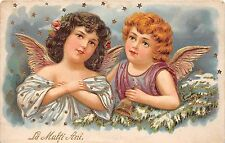 B33203 Anges Angels Embossed card Romania  new year