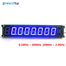 0.1-60MHz Blue RF Signal Frequency Counter Cymometer Tester 6 Digit 20MHz~2.4GHz