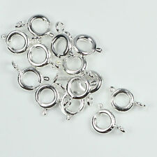6mm,7mm Silver/Gold Plated Metal Open Round Spring Ring Clasps Findings 200pcs