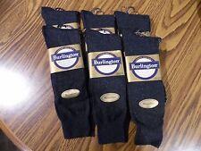 Burlington Dress Microfiber Crew Sock, Slate Heather 6 pair