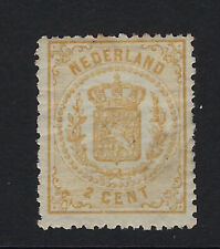 NETHERLANDS : 1870 2c yellow-bistre SG 61 mint