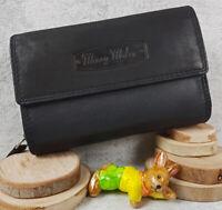 Komfortable Leder Geldbörse Damen Geldbeutel Brieftasche Portemonnaie für Damen