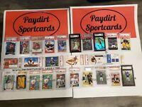 Paydirt Graded Football Card Pack Brady, Mahomes, Brees, Rice, Jackson, Manning