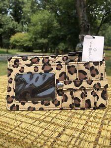 NWT~Vera Bradley 🐆 LEOPARD 🐆 WINTER LEOPARD Ultimate Card Case Wallet