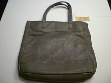 "NWT: BOTKIER ""botkier""-stitched Tote Bag in Muddy Gray-Green Color"
