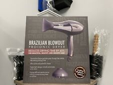 BRAZILIAN BLOWOUT Proionic Blow Dryer NEW FREE CLIPS AND ROUND BRUSH