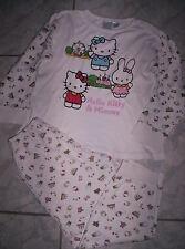 """Süßer """"Hello Kitty & Mimmy""""-Pyjama, weiß-rosa  Gr.116-128"""
