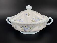 Shelley Blue Rock Tureen Casserole Veggie Dish with Lid Bone China England