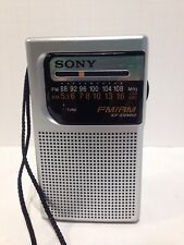 Portable SONY AM/FM Hand Held Silver Pocket Radio ICF-S10MK2, used, WORKS