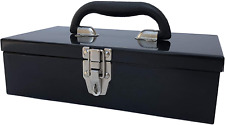 Portable Carpenter Metal Tool Box With Latch, Small Parts Box, Sockets
