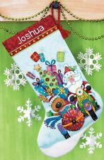 Cross Stitch Kit ~ Dimensions Santa's Sidecar Christmas Stocking #70-08867