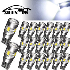 20 X T10 Pure White LED Error Free Canbus 6SMD Side Wedge Light Bulb 194 168 W5W