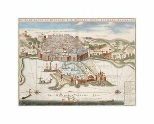 Map Port City Alger Algiers Algeria Africa Harbour Art Canvas Print