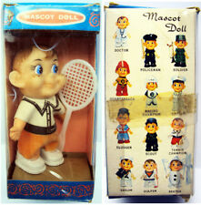 """Vintage Mascot Doll Tennis Player 3 1/2"""" Tall Boxed Collect All (12)"""