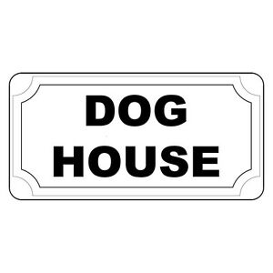 Dog House Black Retro Vintage Style Metal Sign - 8 In X 12 In With Holes