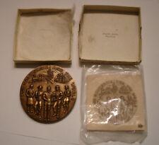 "1970 CROCKER CITIZENS NATIONAL Bronze Medal 3"" Medallic Art Co CALIFORNIA"
