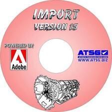1986 - 2017 Import Transmission / Transaxle ATSG Rebuild Manual Library CD-ROM