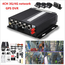 Car Vehicle 4CH Panoramic Mobile DVR AHD 4G Wireless GPS Video Recorder Cameras
