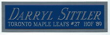 DARRYL SITTLER LEAFS NAMEPLATE AUTOGRAPHED SIGNED HOCKEY STICK-JERSEY-PUCK-PHOTO