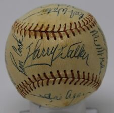 1970 Houston Astros Team Signed Baseball Nice Harry The Hat Walker 19 Autographs