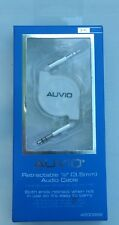"""AUVIO  4200992   3-FT (3.5mm)1/8"""" RETRACTABLE STEREO CABLE  """"WHITE"""""""