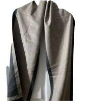 Chelsey By Joseph Womens Scarf Oatmeal Gray 100% Silk Rectangular Fringe New