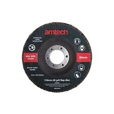 Am-tech 115 Mm 40 Grit Flap Disc Red V0290