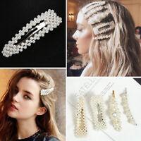 13Pcs Fashion Women Girls Pearl Hair Clips Headwear Barrettes Sweet Hairpins