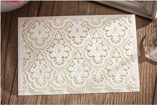 10x Elegant Laser Cut Wedding Invitation Card w/Envelop & Free RSVP Card