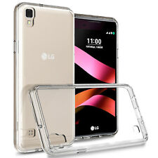 Hybrid Slim Fit Hard Back Cover Phone Case for LG Tribute HD / X Style Clear