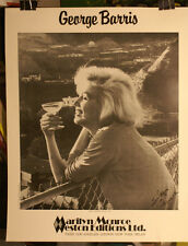 Marilyn Monroe - George Barris 1985 Weston Editions LTD. Poster   2 Sided