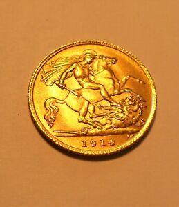 Gold Half Sovereign 1914 George V