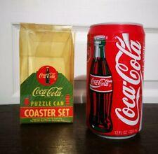 Vintage Coca-Cola Puzzle Can Coaster Set / Dessous De Verre Puzzle Canette