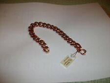 """Mens Solid Copper Sturdy  Curb Chain  Bracelet  9"""" - New"""