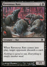 MTG RAVENOUS RATS FOIL - RATTI FAMELICI - X - MAGIC