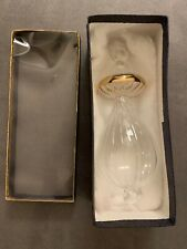 """Egyptian Hand Blown Fancy Gold Etched Glass Christmas Ornament 7"""""""