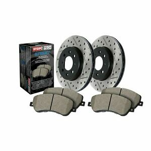 StopTech For Cadillac Chevrolet GMC Disc Brake Pad and Rotor Rear Kit 938.66533