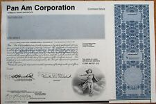 Specimen Stock Certificate: PanAm / Pan American World Airways / Pan Am Corp.