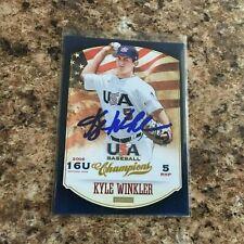 Kyle Winkler Signed 2013 Panini USA Baseball Auto Rc Diamondbacks Rays