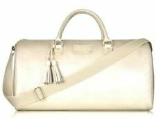 NEW Michael Kors Glam on the Go Weekender Large Gold Travel Duffle Tote Bag