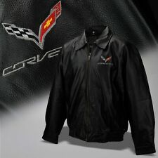 2014-2019 Corvette C7 Mens Lambskin Leather Jacket with Logo and Script 637734
