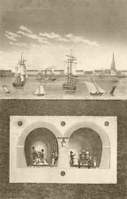 LONDON. The Thames Tunnel. DUGDALE 1845 old antique vintage print picture