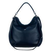 Bruno Rossi Italian Made Navy Blue Calf Leather Oversized Designer Hobo Bag