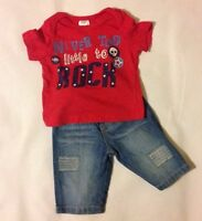 Baby Boys 3-6 Months NEXT Blue Jeans With F&F Short Sleeve T-shirt Outfit Set