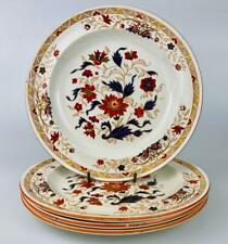 c1884 Antique Wedgwood Pearl Ware Kashmar Imari Plates 21cm~ 19thc~English China