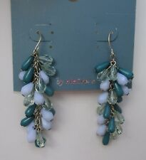 w Turquoise and blue dangle bead beaded EARRINGS Claire's Jewelry